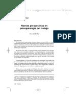 Nuevas Perspectivas en Psicopatologia Del Trabajo