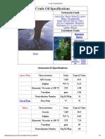 Vzlan Crude Oil Specifications