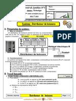 Devoir de Synthèse N°3 - Technologie - 2ème Sciences (2012-2013) Mr abdallah raouafi