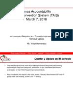 CCISD Board Update on IR Schools