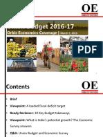 orbis economics coverage union budget 2016-17 march 7 2016