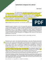 Olga Pombo - Interdisciplinaridade e Integração Dos Saberes (2005)