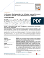 Development of a Standardized Set of Patient-centered Outcomes for Advanced Prostate Cancer