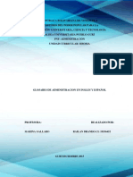 Glosario de términos administrativos en inlges
