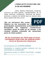 protocolo  para acto civico del día 20noviembre