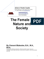 The Female in Nature and Society