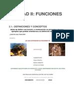 Unidad II- Funciones