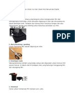 Alat Dan Bahan Untuk Cuci Dan Cetak Foto Manual Dan Digital