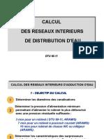 Calcul Des Réseaux Interieurs de Distribution D_eau