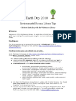 Earth Day 2010 Library Tips