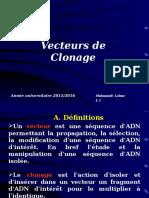 Vecteurs de Clonage