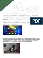 equipo de iluminacion efectos