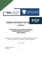 West Virginia Efficiency in the South