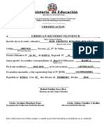 Certificacion Actualizada de Jose Ernesto Rosario Polanco Gresuan