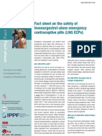 Fact sheet on the safety of levonorgestrel-alone emergency contraceptive pills