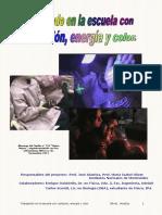 Trabajando en la Escuela con radiación, energía y color