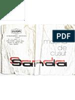 Manual Pentru Masina de Cusut Sanda Fabricata la Cugir