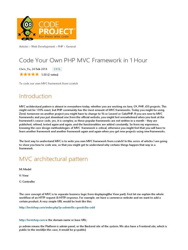 Code your own php mvc framework in 1 hourpdf class computer code your own php mvc framework in 1 hourpdf class computer programming modelviewcontroller fandeluxe Image collections