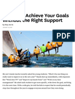 You Can't Achieve Your Goals Without the Right Support
