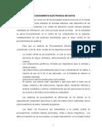 PROCESAMIENTO ELECTRONICO DE DATOS