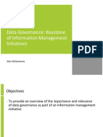 Data Governance Keystone of Information Management Initiatives