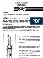 Water-In-Oil Test Kit Manual, Model WO-1, Displacement Kit 22373-00 (1)