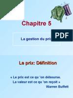 chapitre 5 La Gestion Du Prix