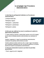 Pytje Dhe Pergjigjje Nga Procedura Administrative