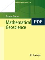 Mathematical Geoscience [Andrew Fowler, 2011] - (Geo Pedia)