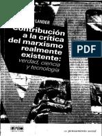 Contribucion a La Critica Del Marxismo Lander