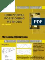 Horizontal Positioning Methods
