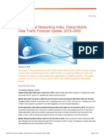 Cisco Visual Networking Index Global Mobile Data Traffic Forecast Update, 2015–2020