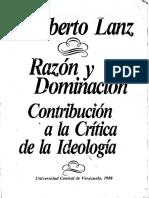 Razon y Dominanción Rioberto Lanz