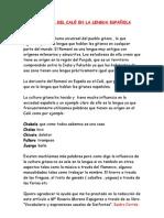 LA INFLUENCIA DEL CALÓ EN LA LENGUA ESPAÑOLA