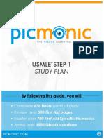 Picmonic Step 1 Study Plan