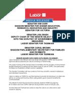 Senate Inquiry Into CSIRO Cuts Heads to Hobart