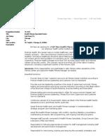 Premise Health - Sr HFS Job Description