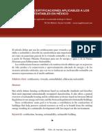 CERTIFICACIONES DE EDIFICIOS EN MEXICO