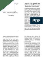 Berkhof - Introduccion a La Teologia Sistematica