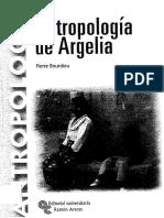 Antropologia de Argelia- Pierre Bourdieu