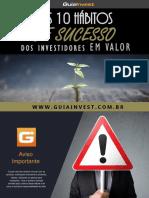 eBook Os 10 Habitos de Sucesso Dos Investidores Em Valor