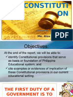 The CONSTITUTION-legal foundations of Education