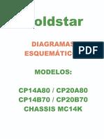 Esquema Goldstar Cp14a80 Cp20a80 Cp14b70 Cp20b70 Chassis Mc14k