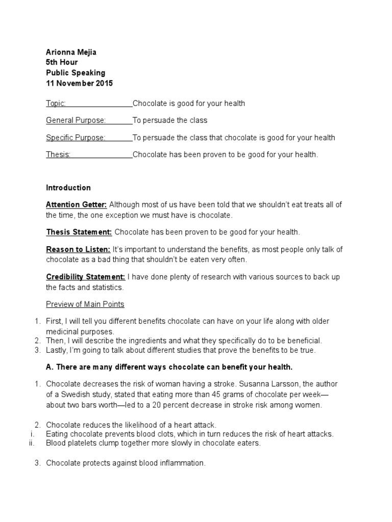 Example outline persuasive speech FREE 4+