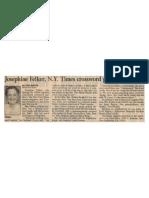 J. A. Felker Obituary