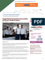 03-05-2016 Ernesto Robinson Toma Protesta Como Candidato Del PRI Por La Alcaldía de Reynosa