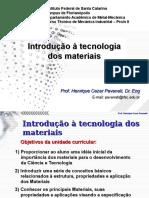 Introdução à Tecnologia Dos Materiais