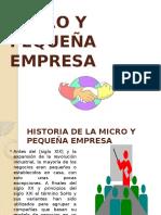 Historia de la Micro y Pequeña Empresa
