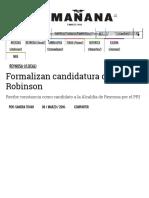 03-05-2016 Formalizan Candidatura de Robinson