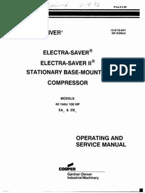 Gardner Denver ELECTRA SAVER II | Gas Compressor | Valve
